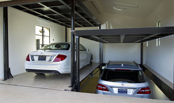 Vesari Dual Car Lift Garage