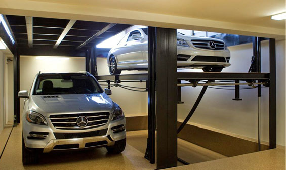 dual car lift for garage