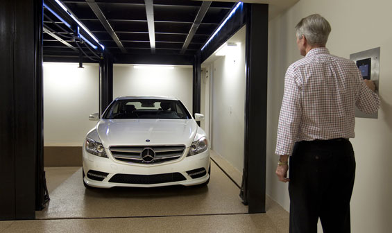 dual car garage lift elevator