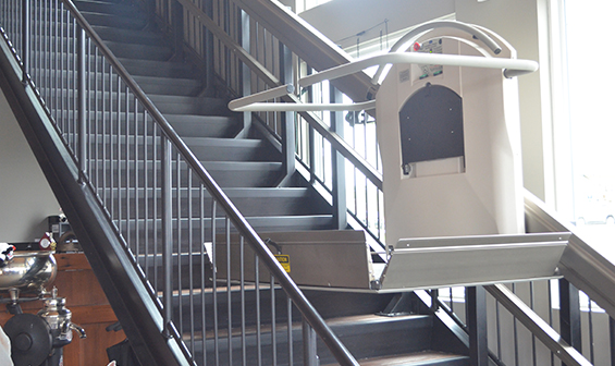 Garaventa Indoor Inclined wheelchair lift