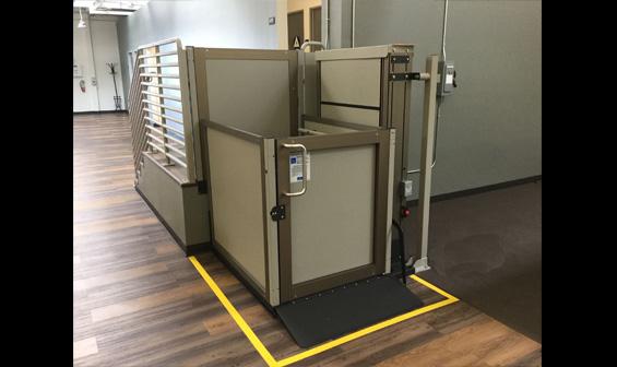 vertical wheelchair lift
