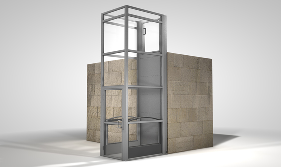 Graphic Design of Ascension Clarity vertical wheelchair lift