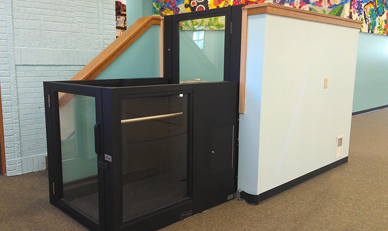 Ascension Protege vertical wheelchair lift