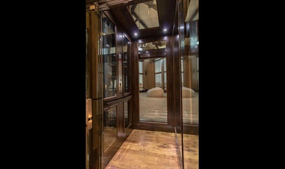 luxury glass home elevator
